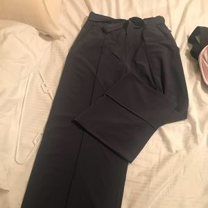 Rare grey/blue pleated pants w/ tie in front